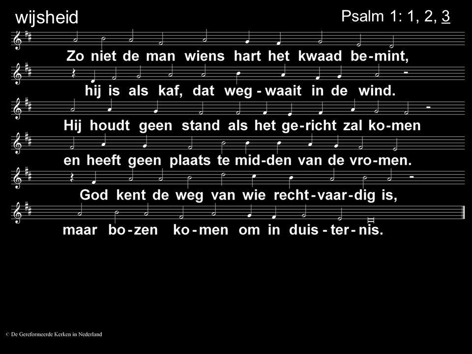 Votum Psalm 124: 3 Zegengroet....
