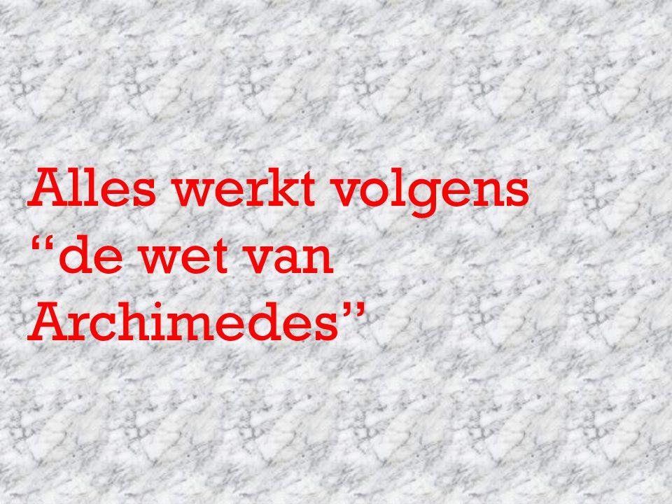 """Alles werkt volgens """"de wet van Archimedes"""""""
