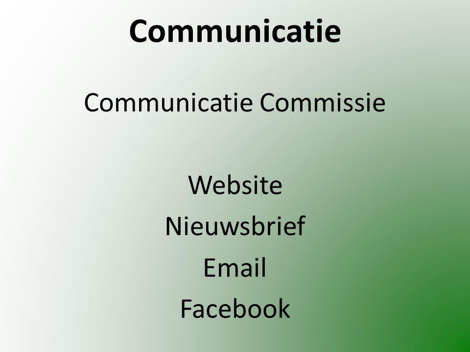 Communicatie Communicatie Commissie Website Nieuwsbrief Email Facebook