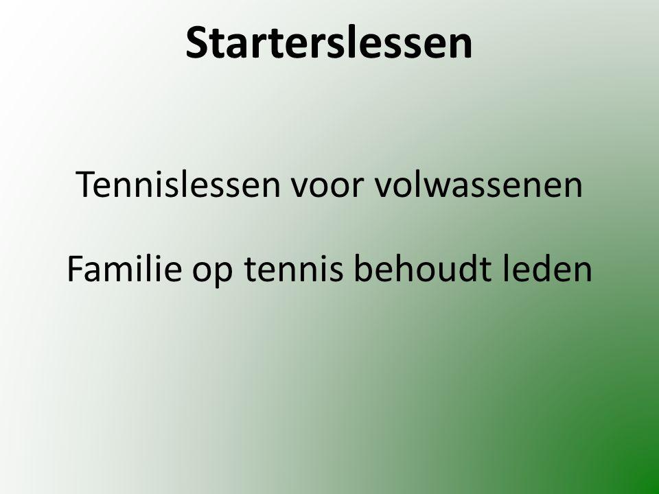 Starterslessen Tennislessen voor volwassenen Familie op tennis behoudt leden
