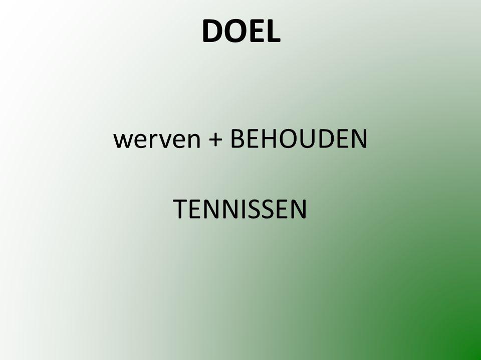 werven + BEHOUDEN TENNISSEN DOEL