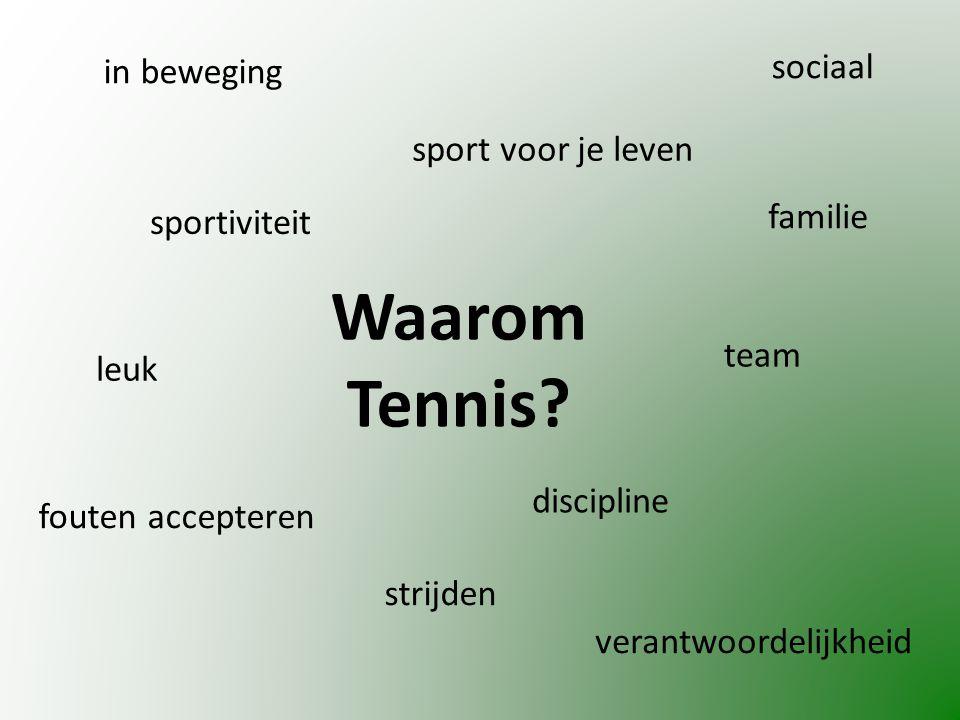 Waarom Tennis.