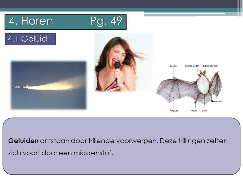 P.Feys - Sint – Jorisschool Menen 4. Horen Pg. 49 4.1 Geluid Voorbeeld 1: We horen een luide knal.