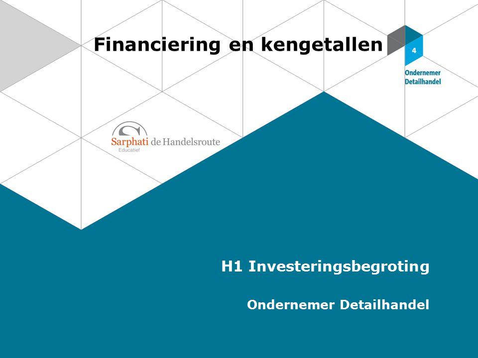 Financiering en kengetallen H1 Investeringsbegroting Ondernemer Detailhandel