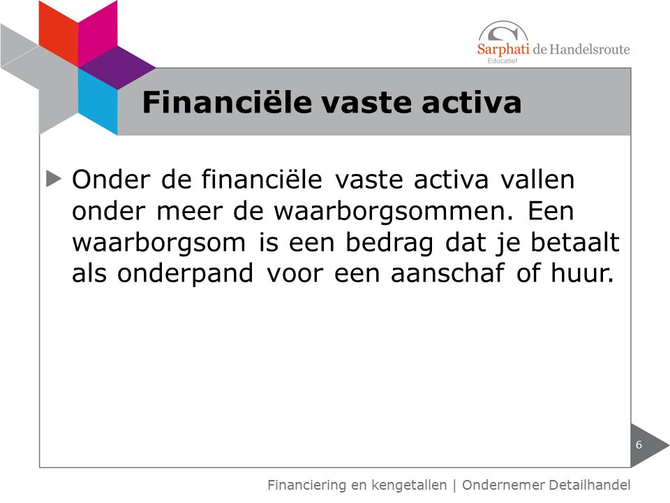 Vlottende activa zijn bezittingen van een onderneming die binnen een jaar om te zetten zijn in geld.