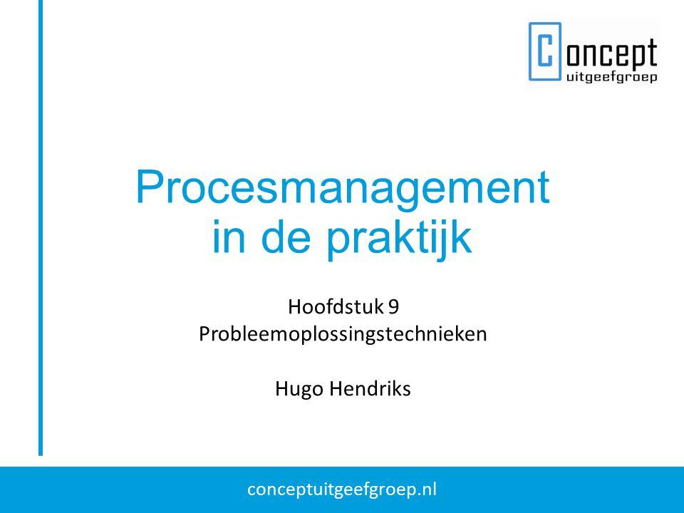 conceptuitgeefgroep.nl Procesmanagement in de praktijk Hoofdstuk 9 Probleemoplossingstechnieken Hugo Hendriks