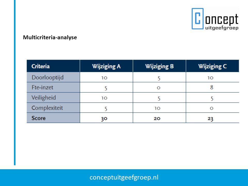 conceptuitgeefgroep.nl Multicriteria-analyse