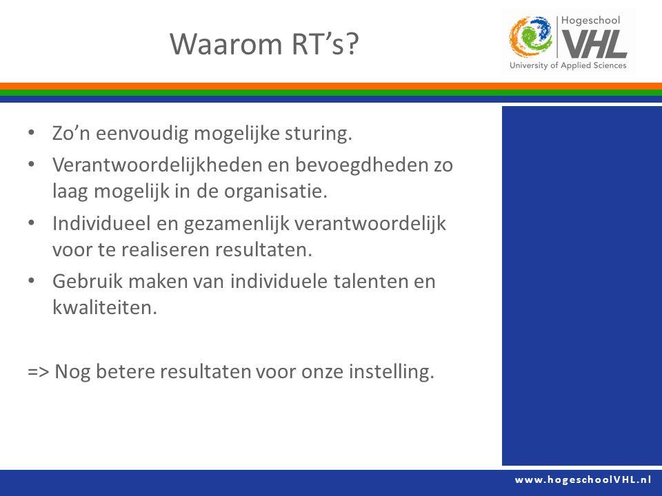 www.hogeschoolVHL.nl Zo'n eenvoudig mogelijke sturing.