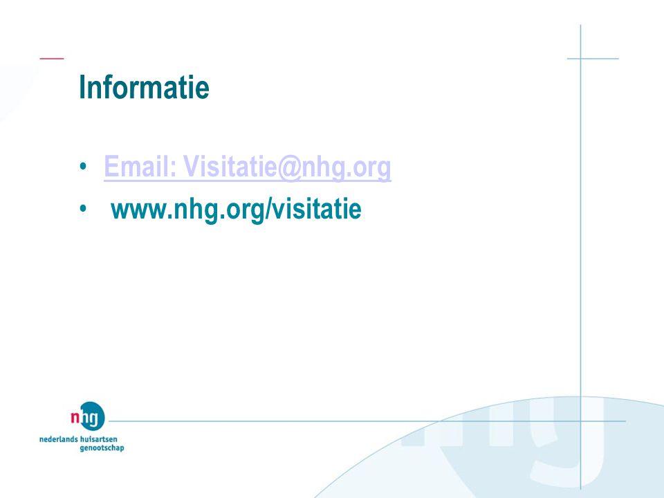 Informatie Email: Visitatie@nhg.org www.nhg.org/visitatie
