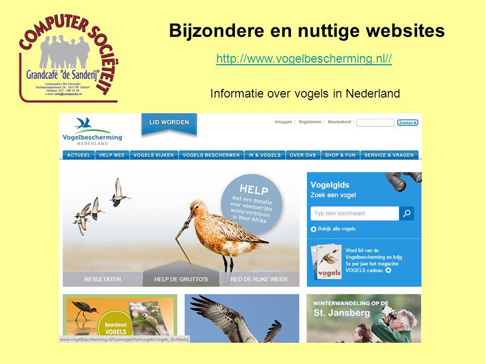 Bijzondere en nuttige websites Gingko.