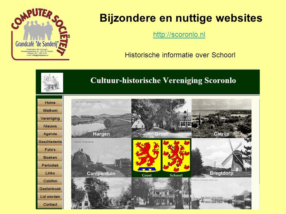 Bijzondere en nuttige websites http://www.regionaalarchiefalkmaar.nl/ Regionaal archief Alkmaar