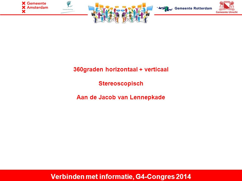 360graden horizontaal + verticaal Stereoscopisch Aan de Jacob van Lennepkade Verbinden met informatie, G4-Congres 2014