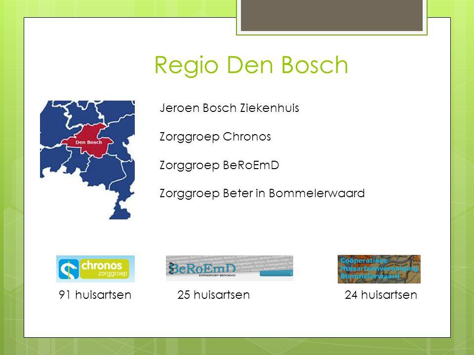 Regio Den Bosch Jeroen Bosch Ziekenhuis Zorggroep Chronos Zorggroep BeRoEmD Zorggroep Beter in Bommelerwaard 91 huisartsen24 huisartsen 25 huisartsen