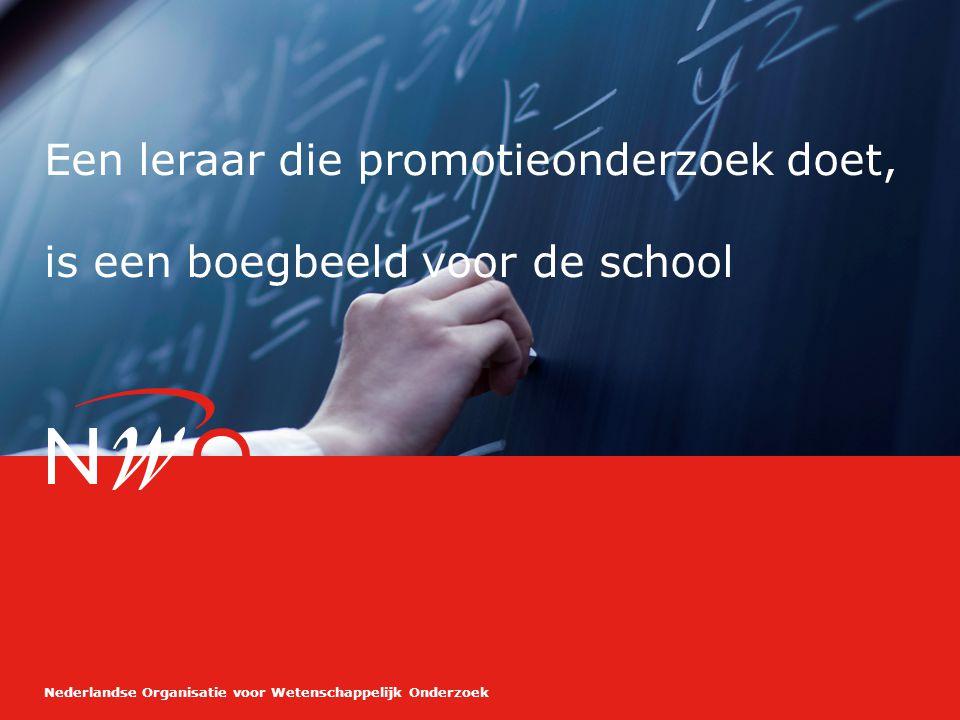 Nederlandse Organisatie voor Wetenschappelijk Onderzoek De combinatie werk, privé en promotieonderzoek doen, is goed te combineren