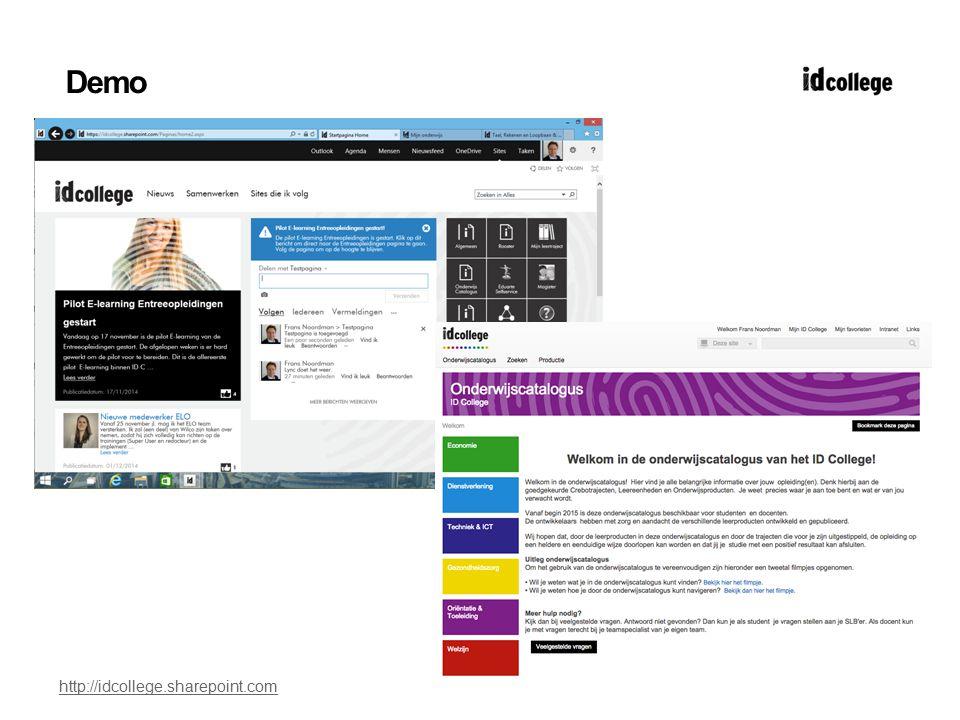 Demo http://idcollege.sharepoint.com