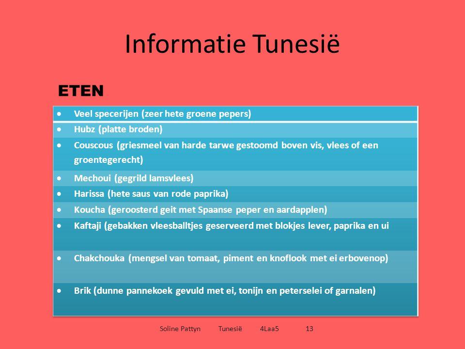 Informatie Tunesië Soline Pattyn Tunesië 4Laa5 13 DRINKEN