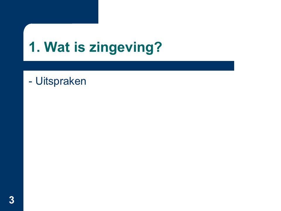 3 1. Wat is zingeving? - Uitspraken