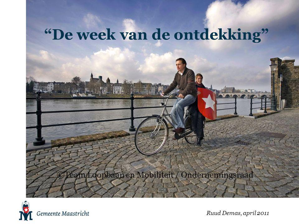 """""""De week van de ontdekking"""" Ruud Demas, april 2011 ©Team Loopbaan en Mobiliteit / Ondernemingsraad"""
