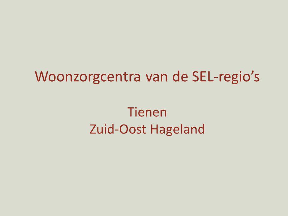 Woonzorgcentra van de SEL-regio's Tienen Zuid-Oost Hageland