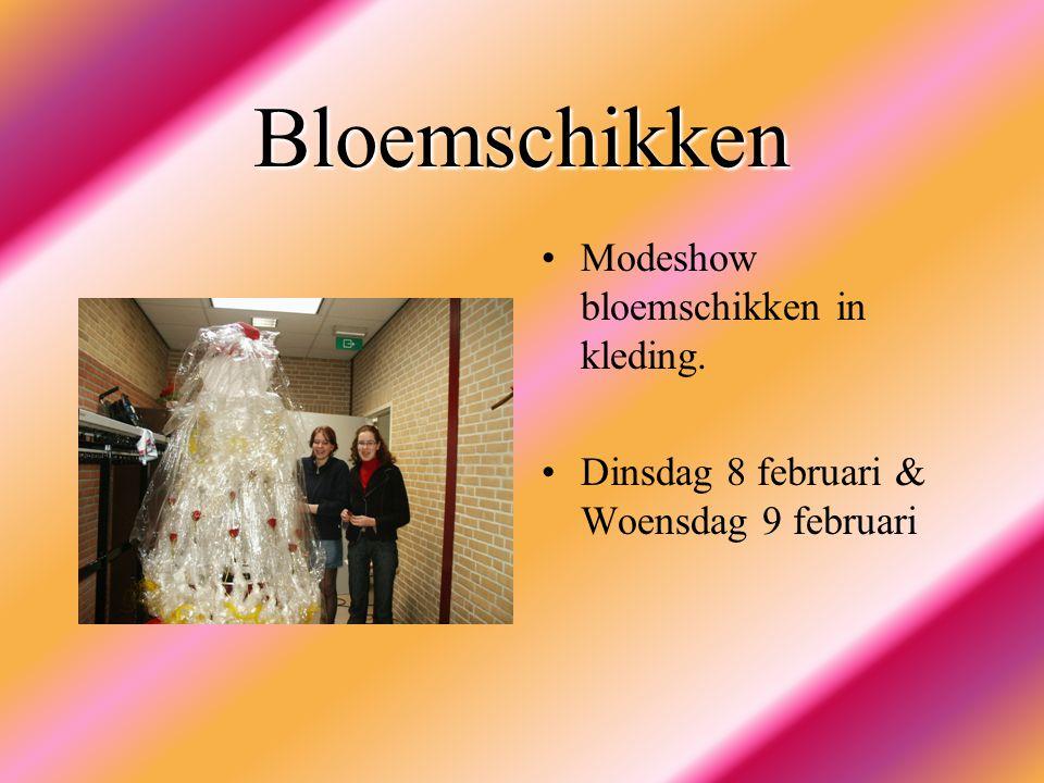 Bloemschikken Modeshow bloemschikken in kleding. Dinsdag 8 februari & Woensdag 9 februari