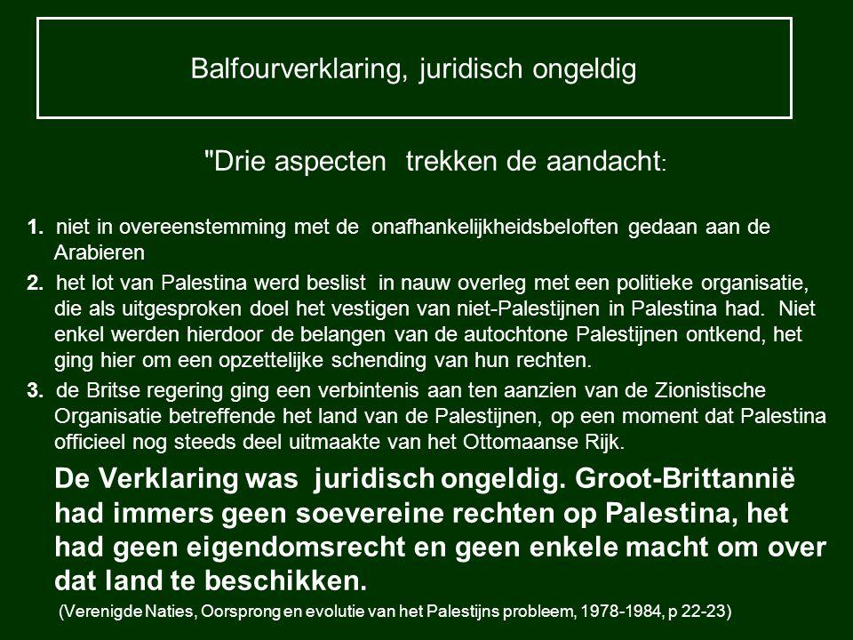 Balfourverklaring, juridisch ongeldig