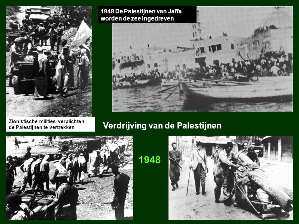 1948 De Palestijnen van Jaffa worden de zee ingedreven Zionistische milities verplichten de Palestijnen te vertrekken Verdrijving van de Palestijnen 1