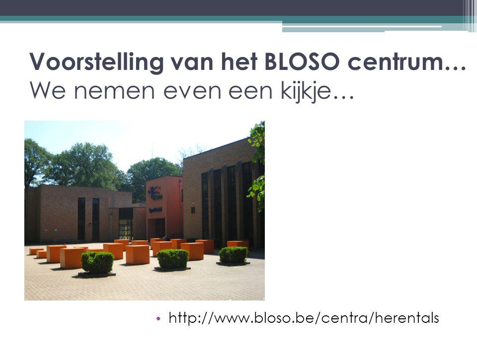Voorstelling van het BLOSO centrum… We nemen even een kijkje… http://www.bloso.be/centra/herentals