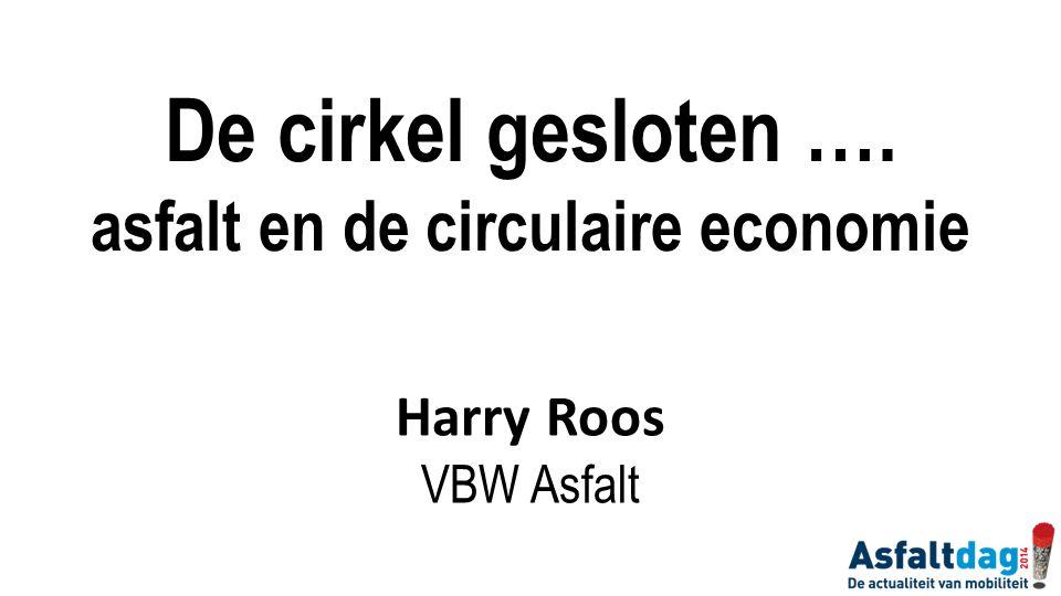De cirkel gesloten …. asfalt en de circulaire economie Harry Roos VBW Asfalt