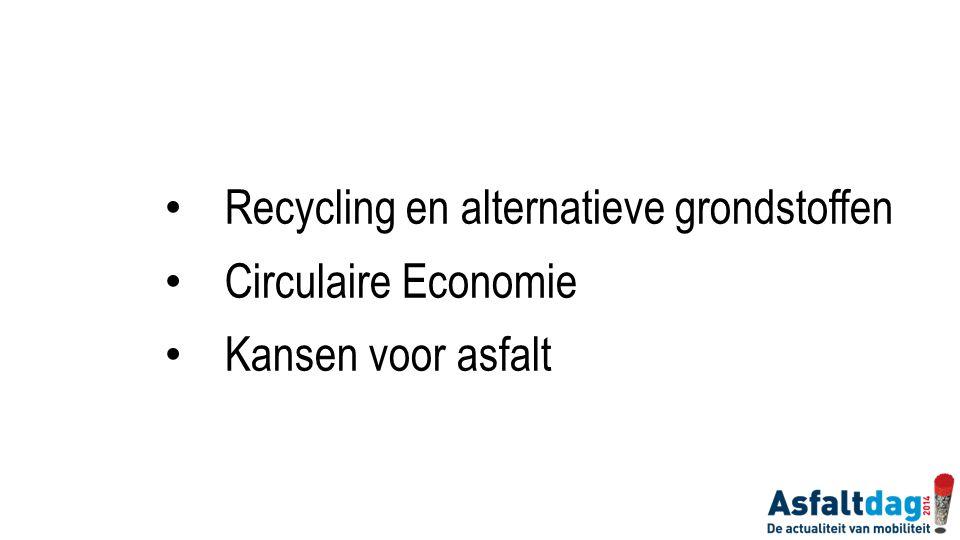 Recycling en alternatieve grondstoffen Circulaire Economie Kansen voor asfalt