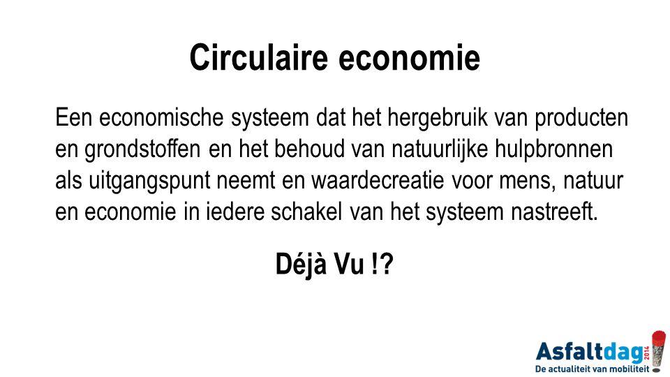 Een economische systeem dat het hergebruik van producten en grondstoffen en het behoud van natuurlijke hulpbronnen als uitgangspunt neemt en waardecre