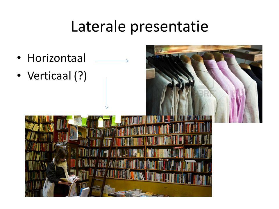 Laterale presentatie Horizontaal Verticaal (?)