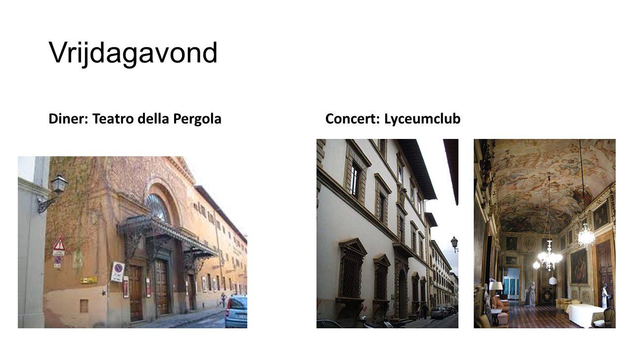 ZaterdagochtendZaterdagmiddag Fortezza da Basso Palazzo Pitti
