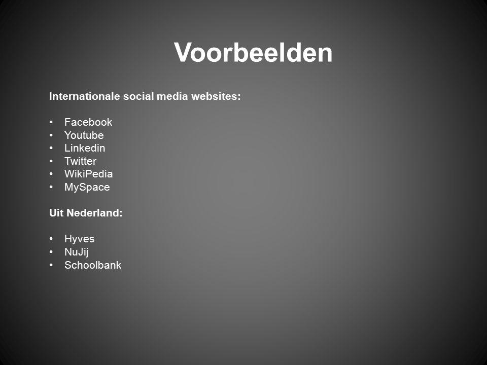 Internationaal: Del.icio.us Digg Netscape Uit Nederland: MSN Reporter NuJij GreenRedactie Voorbeelden social bookmarking