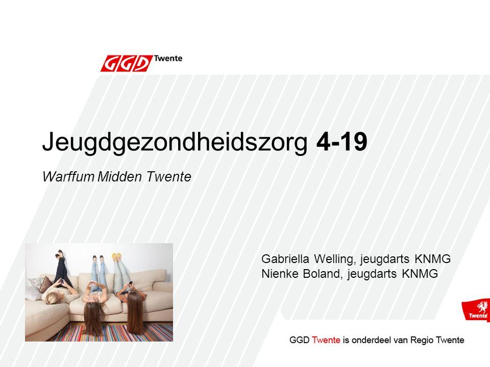 Jeugdgezondheidszorg 4-19 Warffum Midden Twente Gabriella Welling, jeugdarts KNMG Nienke Boland, jeugdarts KNMG