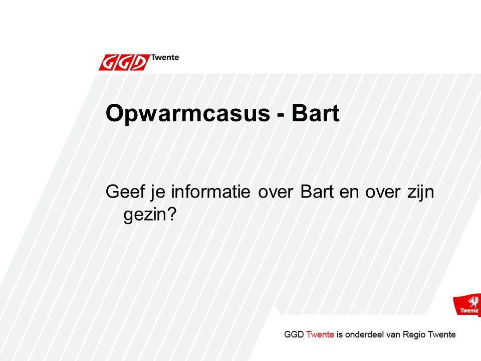 Opwarmcasus - Bart Geef je informatie over Bart en over zijn gezin?