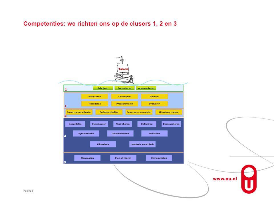 Competenties: we richten ons op de clusers 1, 2 en 3 Pagina 9