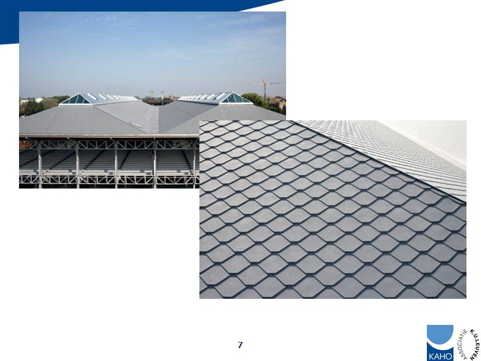 Het geïsoleerde metalen dak als zuivere afdichting beperkt in afmeting (vb.: goten) door materiaaleigenschappen o.a.