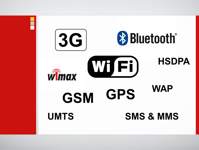SMS & MMS 3G GPS UMTS WAP HSDPA GSM