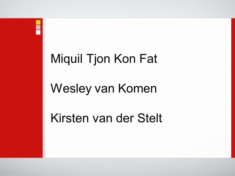Miquil Tjon Kon Fat Wesley van Komen Kirsten van der Stelt