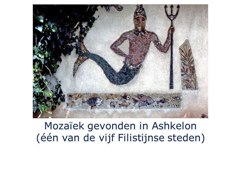 Mozaïek gevonden in Ashkelon (één van de vijf Filistijnse steden)