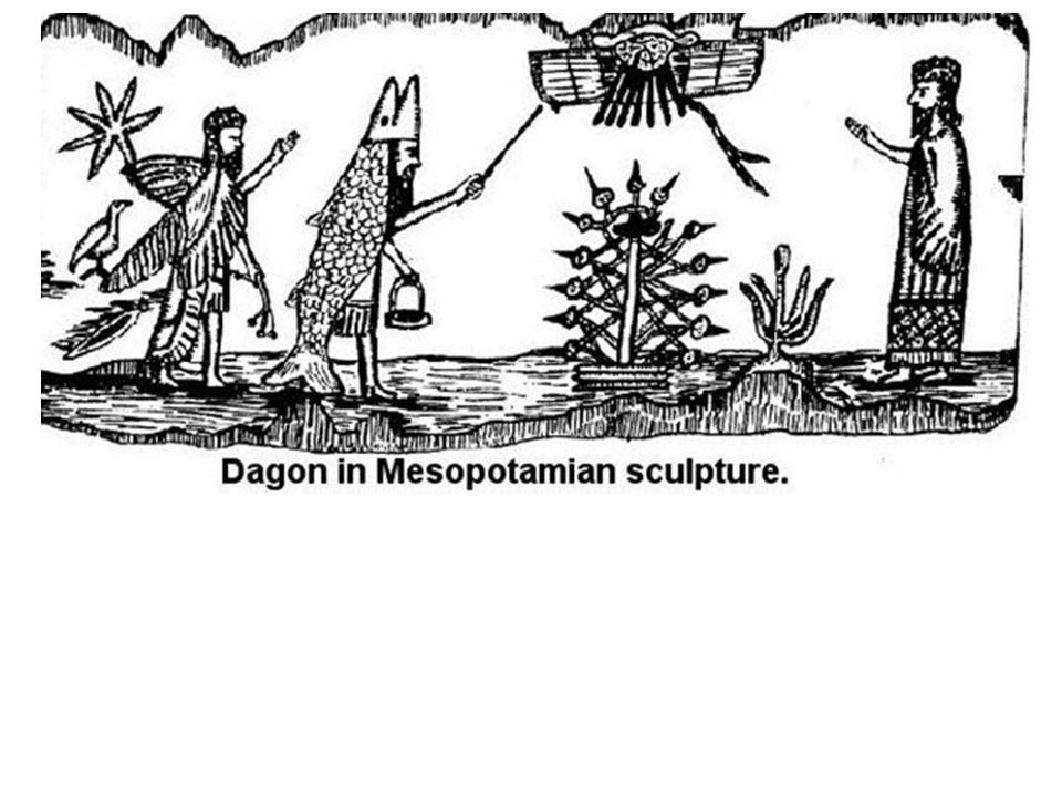 de vissenbek op het hoofd van Dagon... de bekende mijter in de wereldkerk