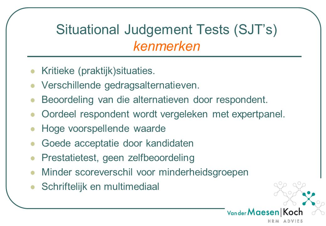 Demo SQ-test www.vandermaesenkoch.nl/sq4/