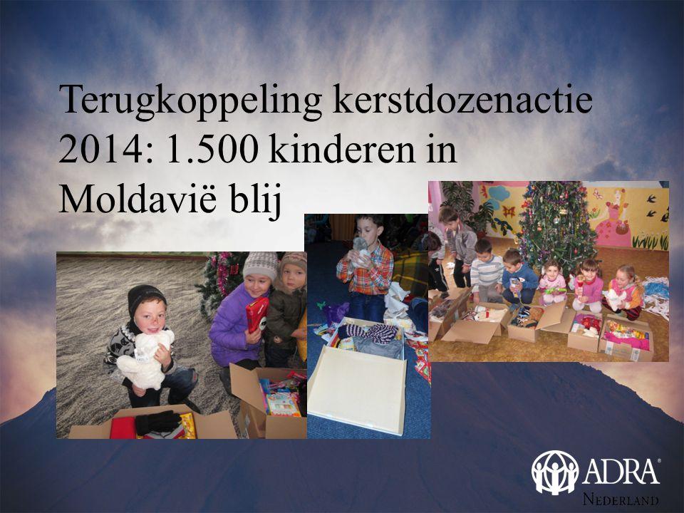 Terugkoppeling kerstdozenactie 2014: 1.500 kinderen in Moldavië blij