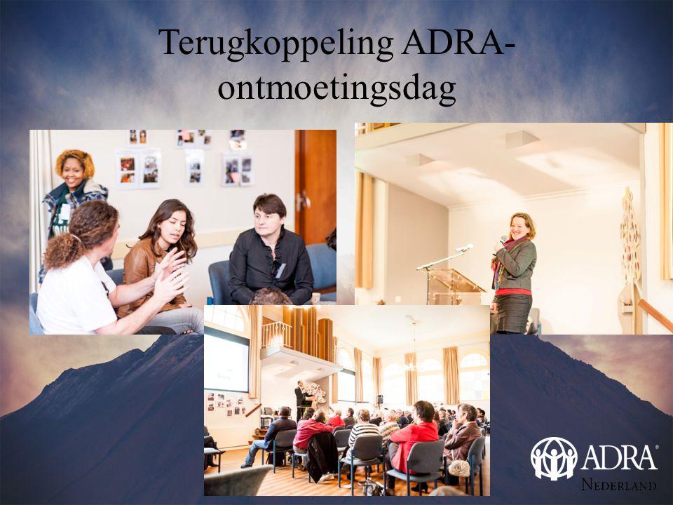 Terugkoppeling ADRA- ontmoetingsdag