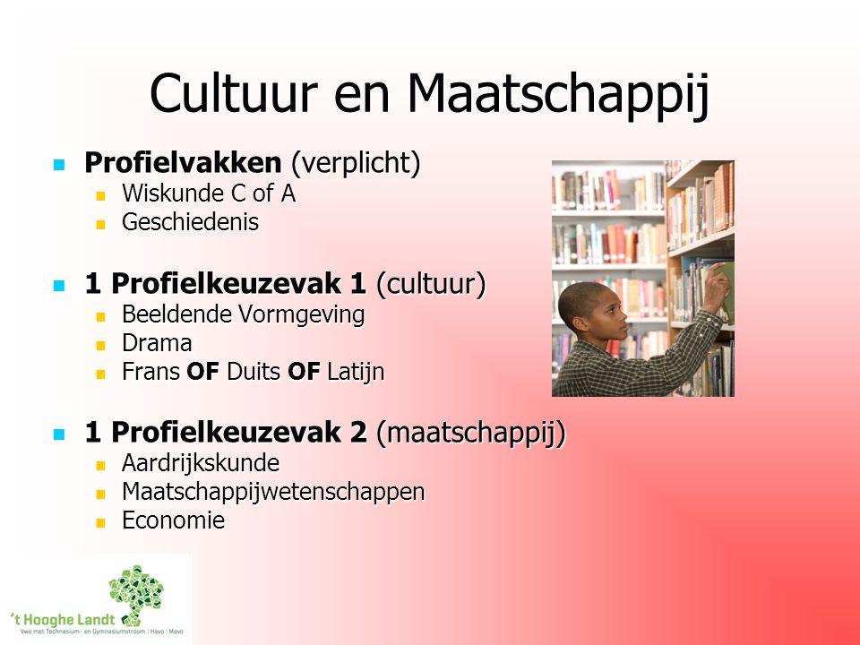 Cultuur en Maatschappij Profielvakken (verplicht) Profielvakken (verplicht) Wiskunde C of A Wiskunde C of A Geschiedenis Geschiedenis 1 Profielkeuzeva