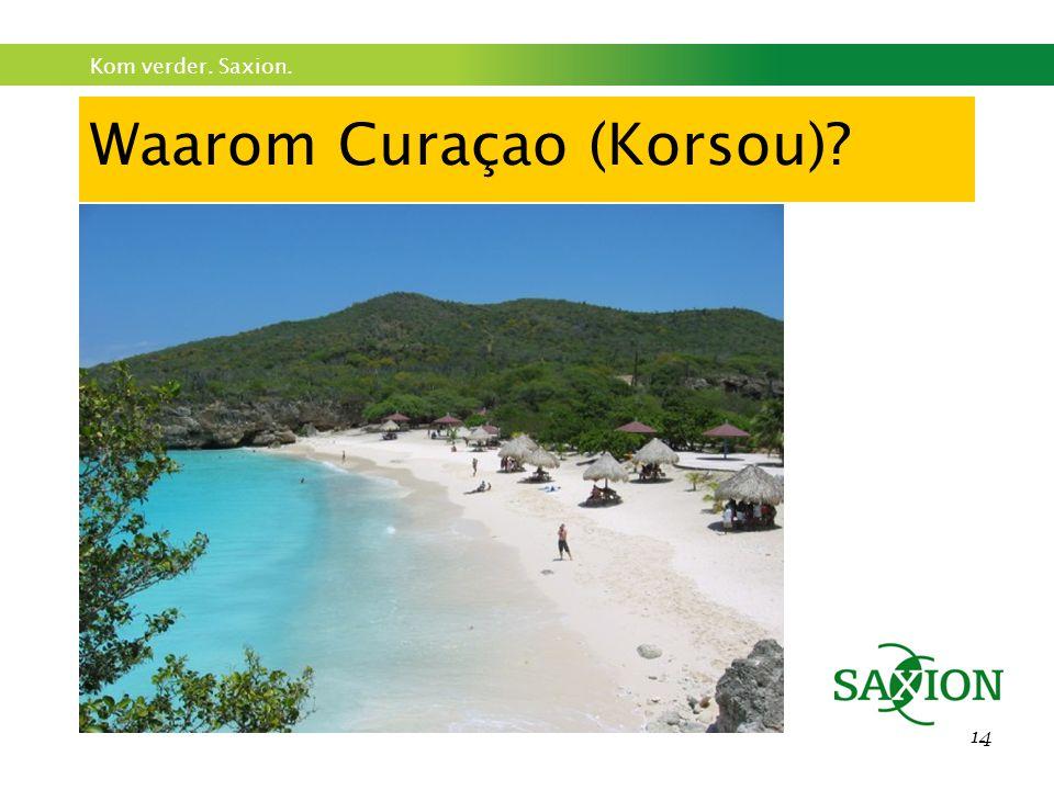 Kom verder. Saxion. 14 Waarom Curaçao (Korsou)?