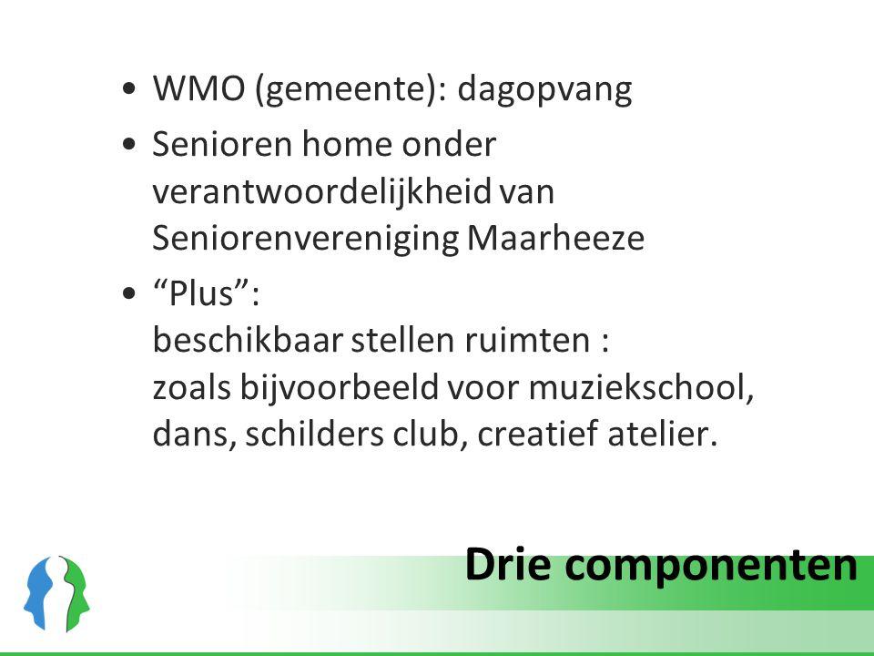 """Drie componenten WMO (gemeente): dagopvang Senioren home onder verantwoordelijkheid van Seniorenvereniging Maarheeze """"Plus"""": beschikbaar stellen ruimt"""