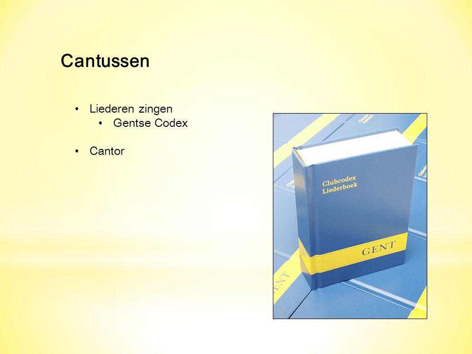 Cantussen Liederen zingen Gentse Codex Cantor
