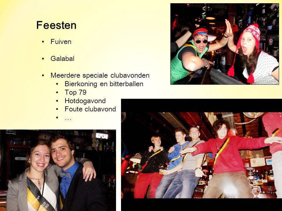 Feesten Fuiven Galabal Meerdere speciale clubavonden Bierkoning en bitterballen Top 79 Hotdogavond Foute clubavond …