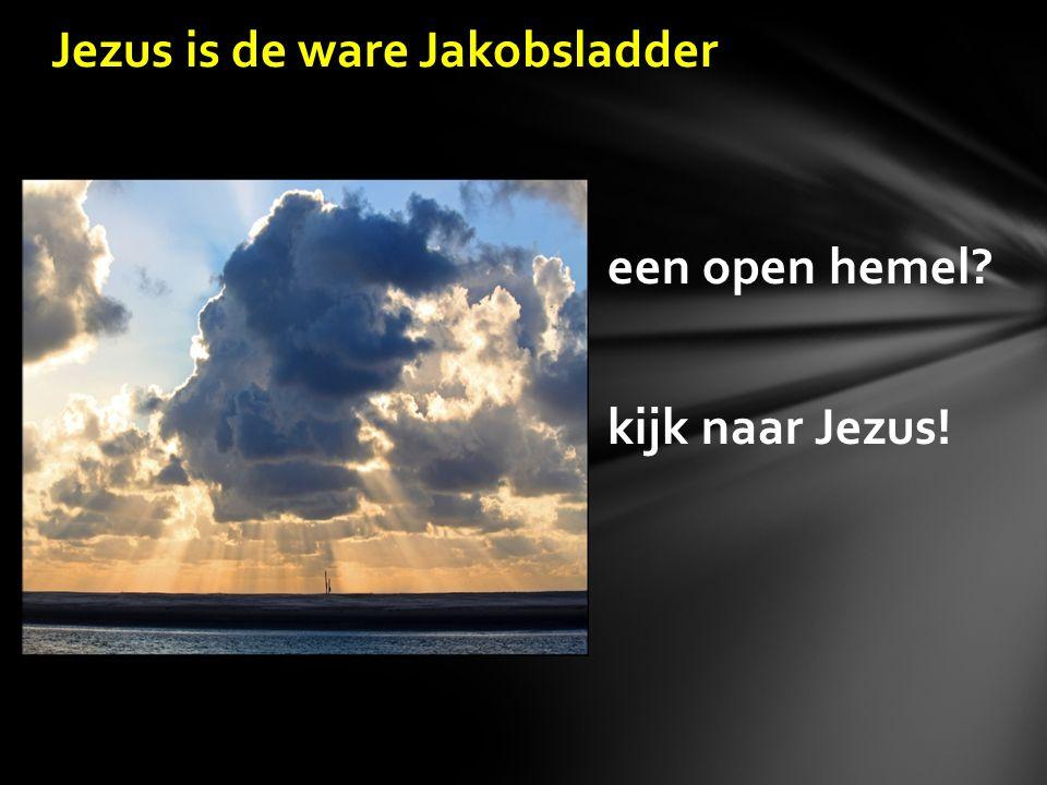 slang en ladder in de open lucht de hemel open God was here o, kom er eens kijken één lijn met de ladder rijksweg tussen hemel en aarde na drie uur de hemel nooit weer dicht dromen over Jezus de ware Jakobsladder